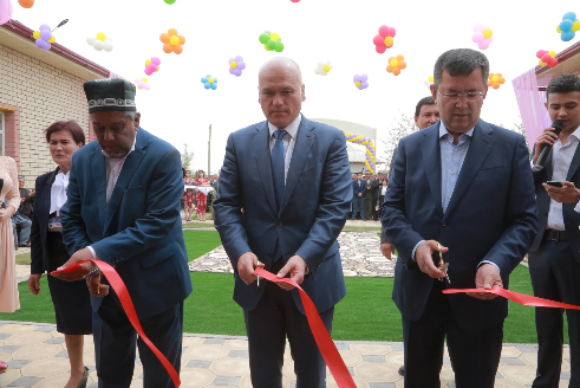 The opening of renovated kindergarten in rabat village, Surkhandarya region.